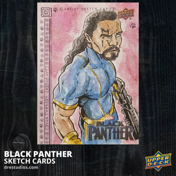 andrei-ausch-black-panther-sketch-card-bishop-x-men