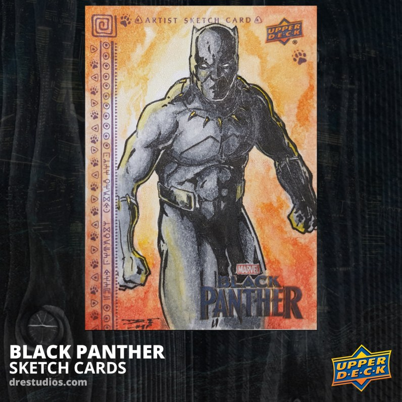 Black Panther Sketch Card