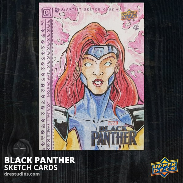 andrei-ausch-black-panther-sketch-card-jean-grey