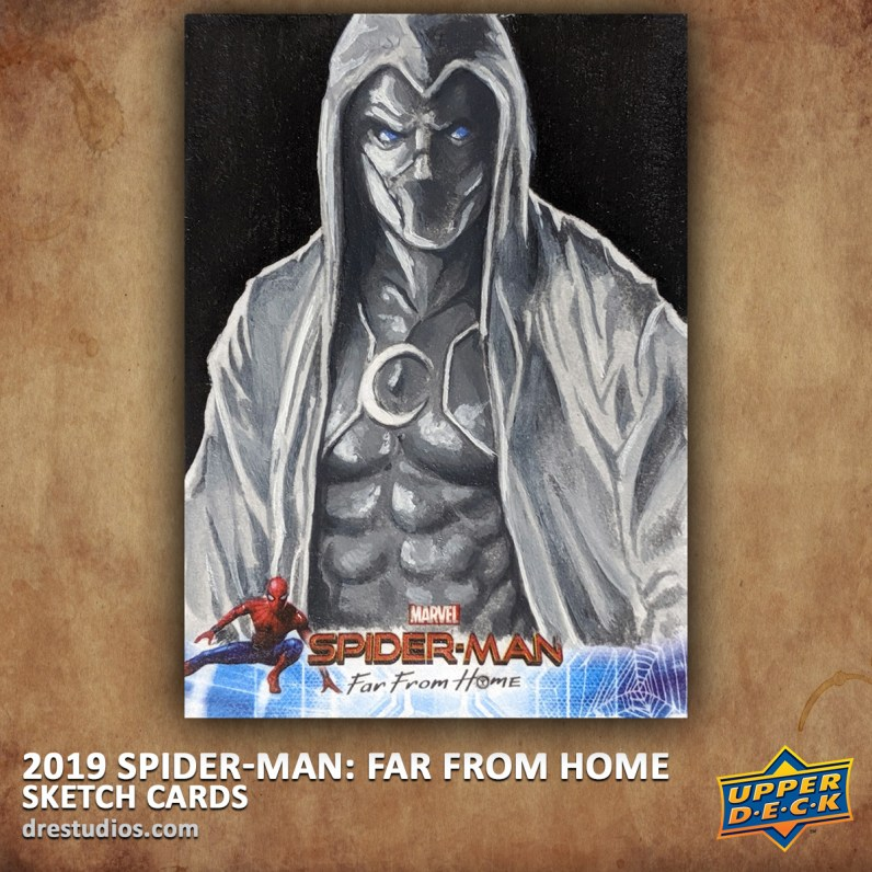 upper-deck-spider-man-far-from-home-trading-sketch-card-andrei-ausch-moon-knight