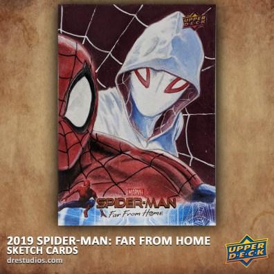upper-deck-spider-man-far-from-home-trading-sketch-card-andrei-ausch-spider-gwen-puzzle