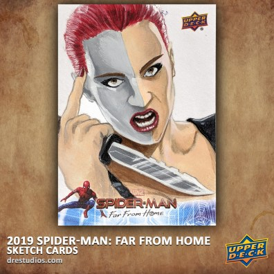 upper-deck-spider-man-far-from-home-trading-sketch-card-andrei-ausch-typhoid-mary