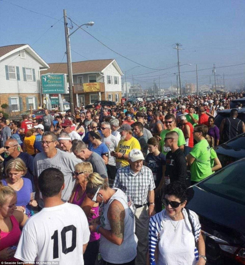 Environ 1000 personnes étaient présentes pour le marathon