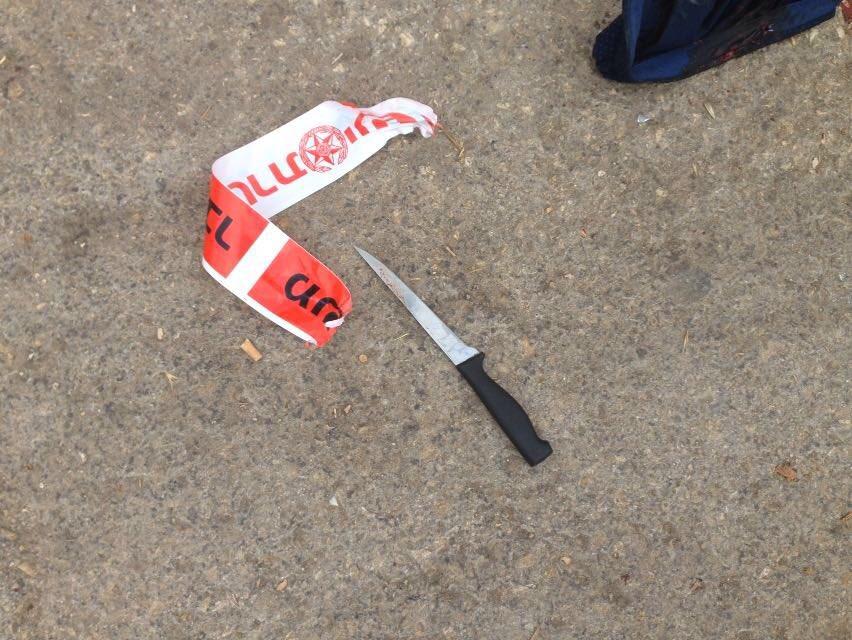 Couteau ayant servi à l'attaque