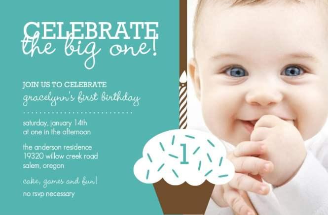 Baby Boy Birthday Invitation Cards – Baby Boy 1st Birthday Invites