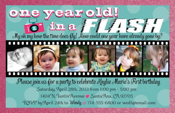 Birthday Invitation Cards For 1 Year Old – 5 Year Old Birthday Invitation Wording