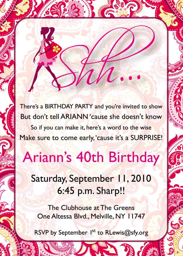 Birthday Invites Templates free printable birthday invitation – Free 21st Birthday Invitation Templates