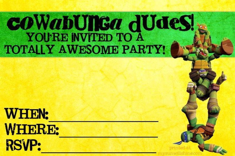 Free printable teenage mutant ninja turtle birthday invitations free printable teenage mutant ninja turtles invitations inviwall co filmwisefo