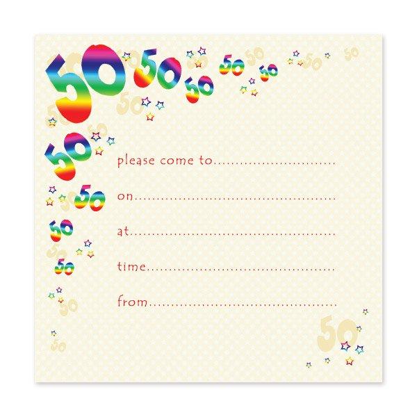 Blank 50th Birthday Party Invitations Templates FREE Invitation Templates Drevio