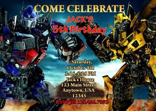 pictures on transformers birthday
