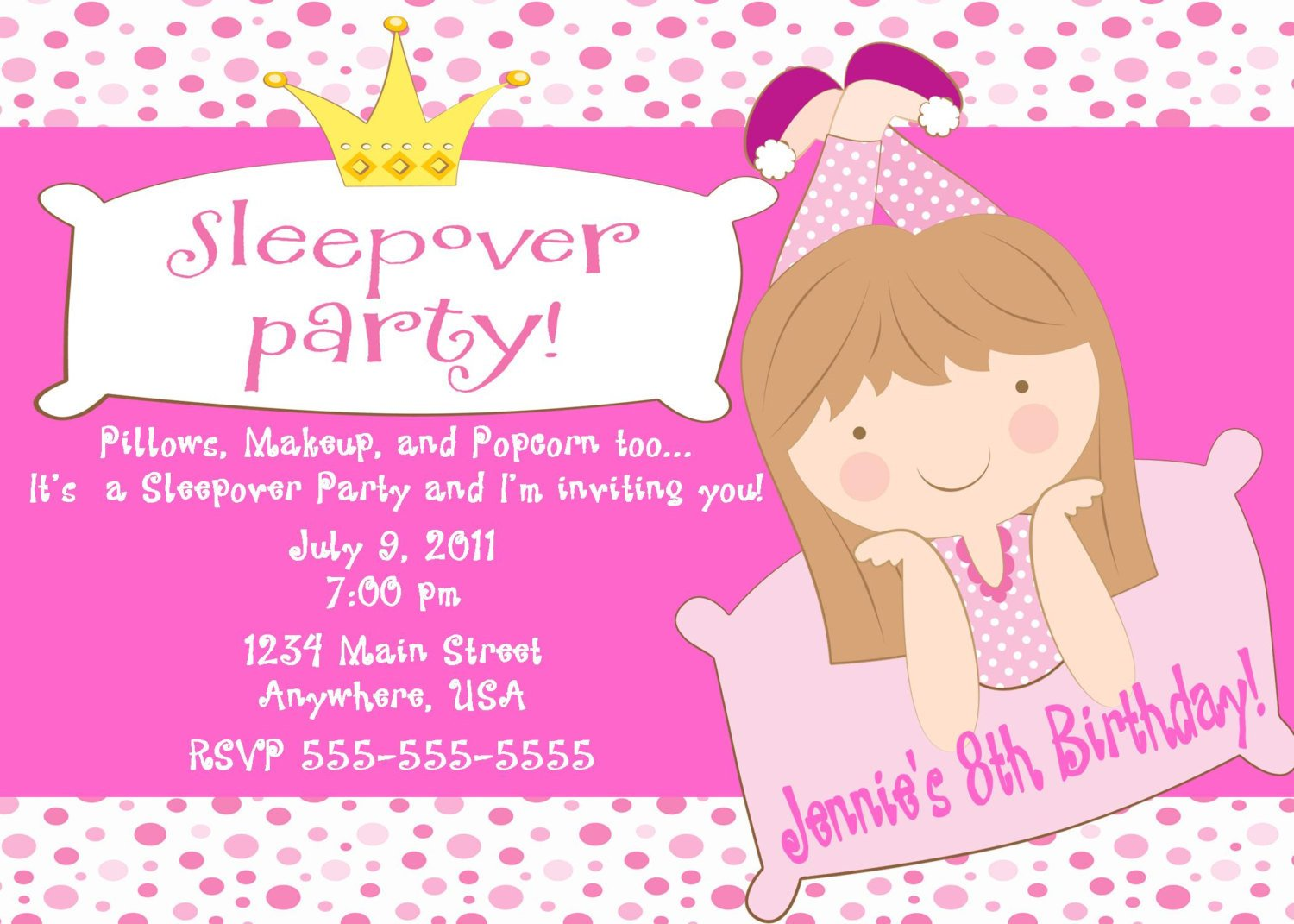 Printable Birthday Invitations For Girls Free Template