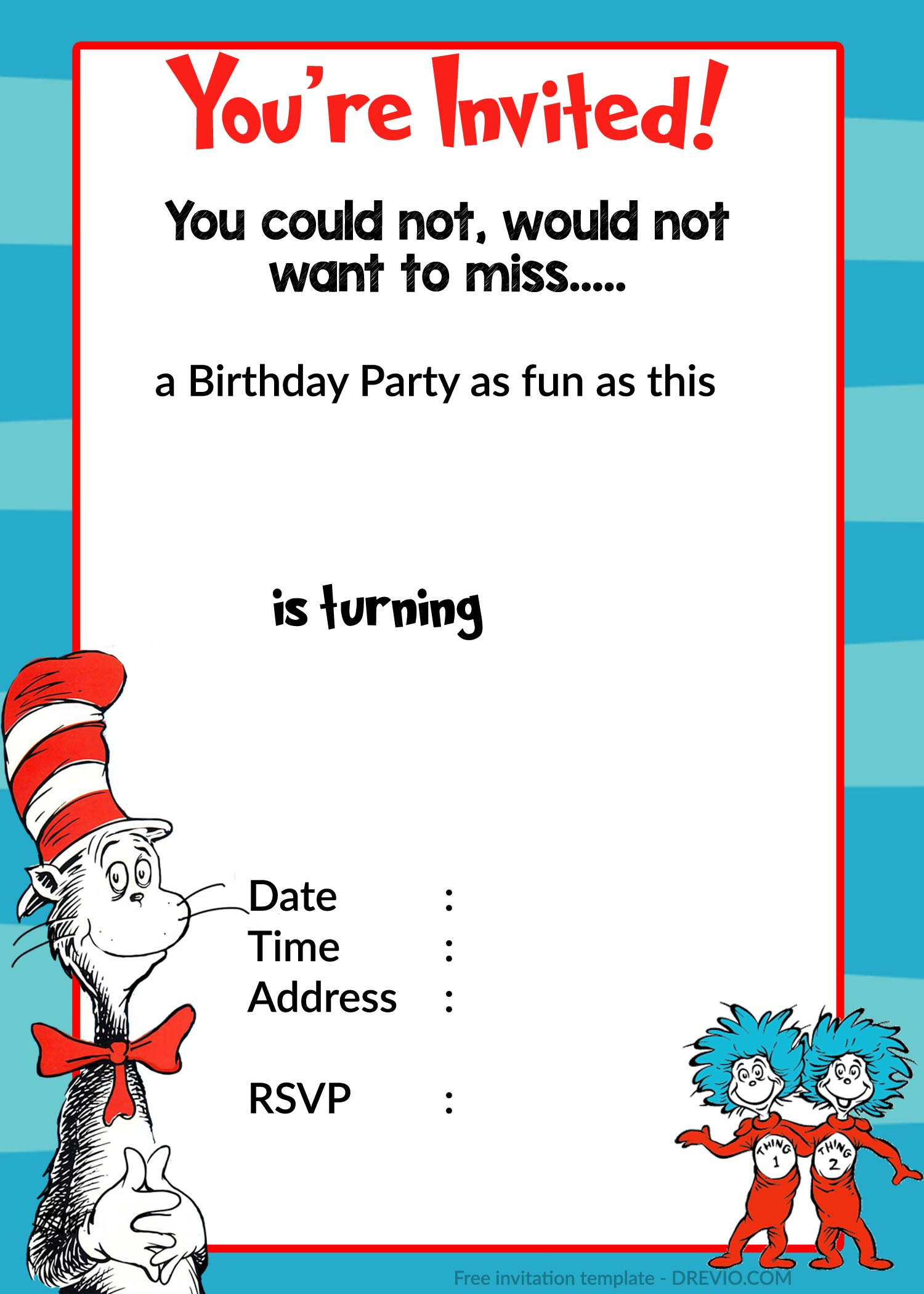 Free Printable Dr Seuss Birthday Invitations Download Hundreds Free Printable Birthday Invitation Templates