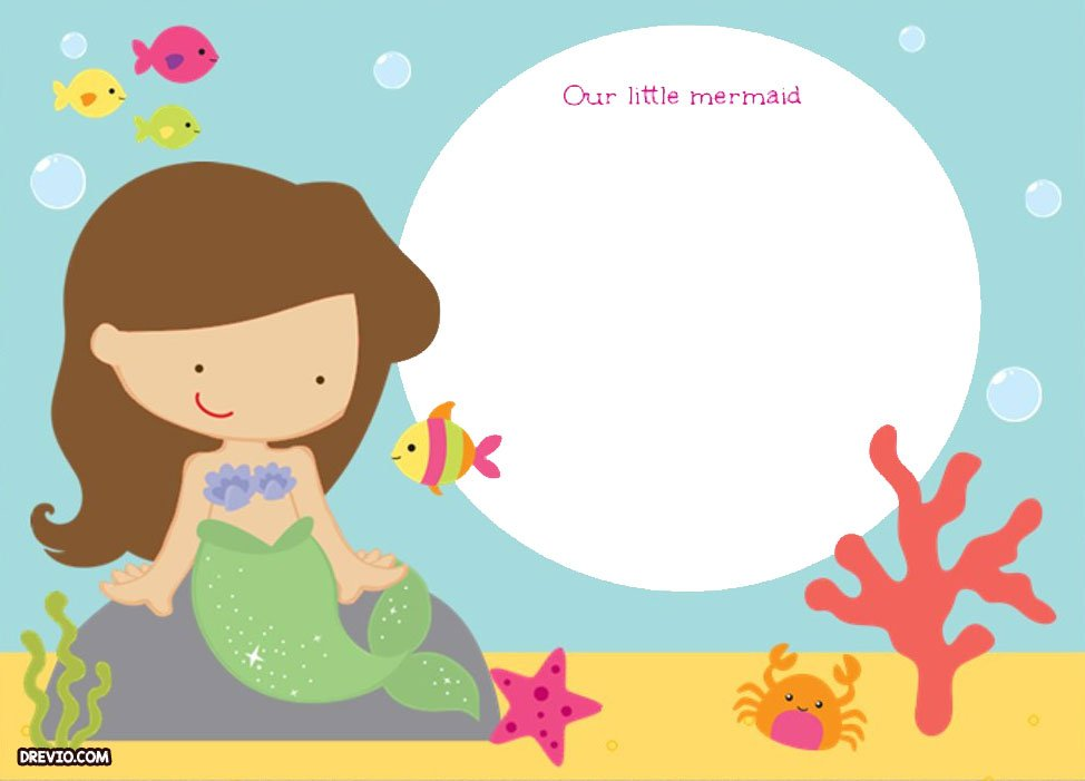 free printable ariel the little mermaid