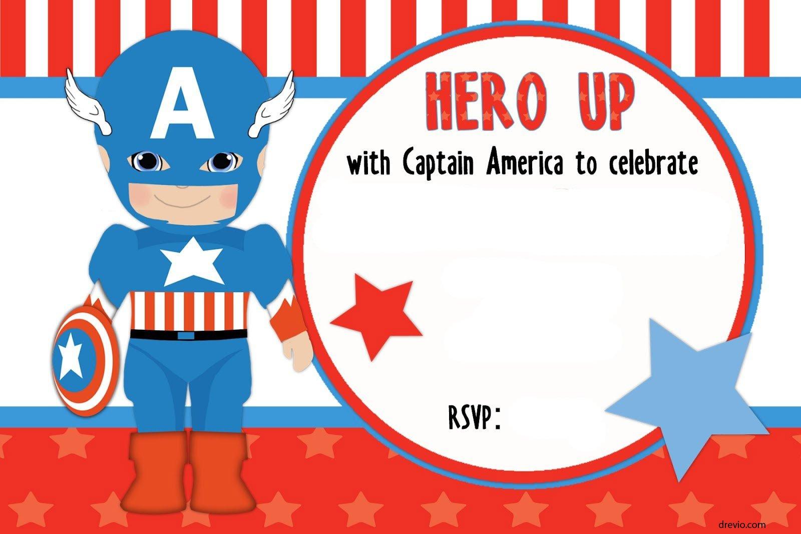 free printable captain america birthday