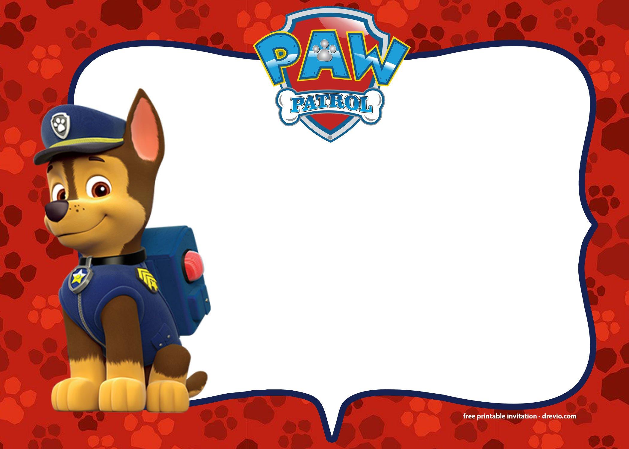 free printable paw patrol birthday