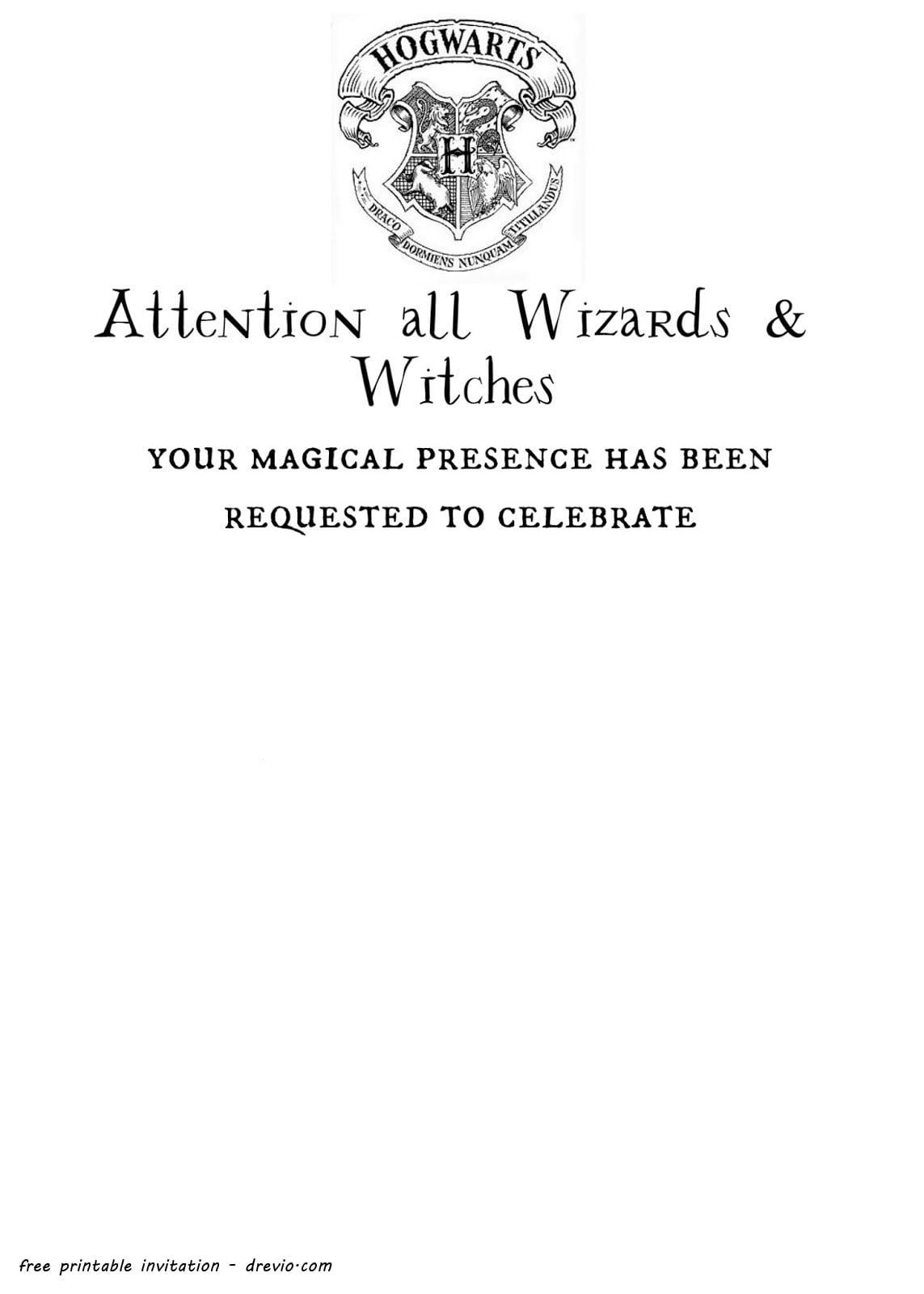 Free Printable Harry Potter