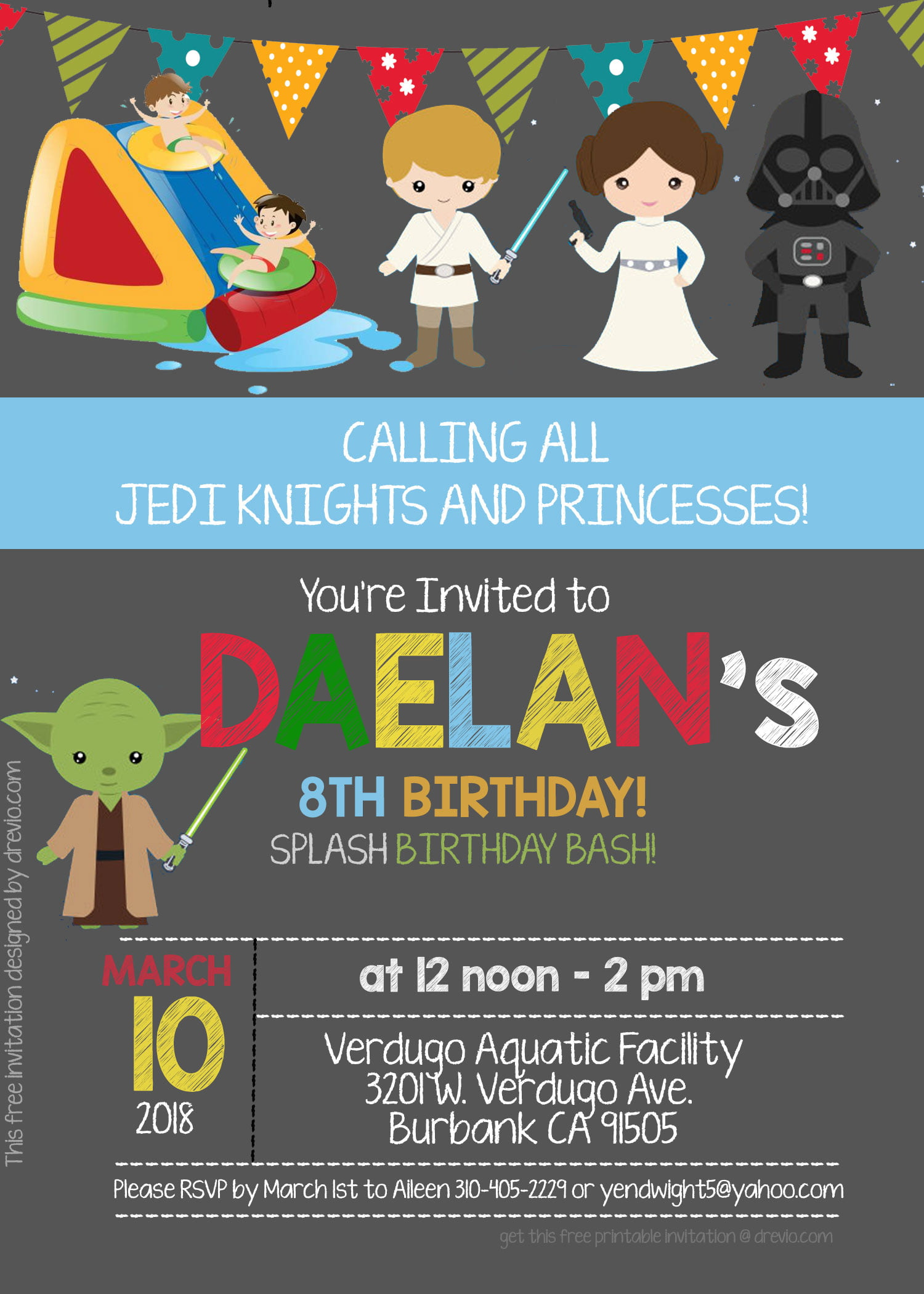 Free Star Wars Pool Party Invitation Template Psd Download Hundreds Free Printable Birthday Invitation Templates