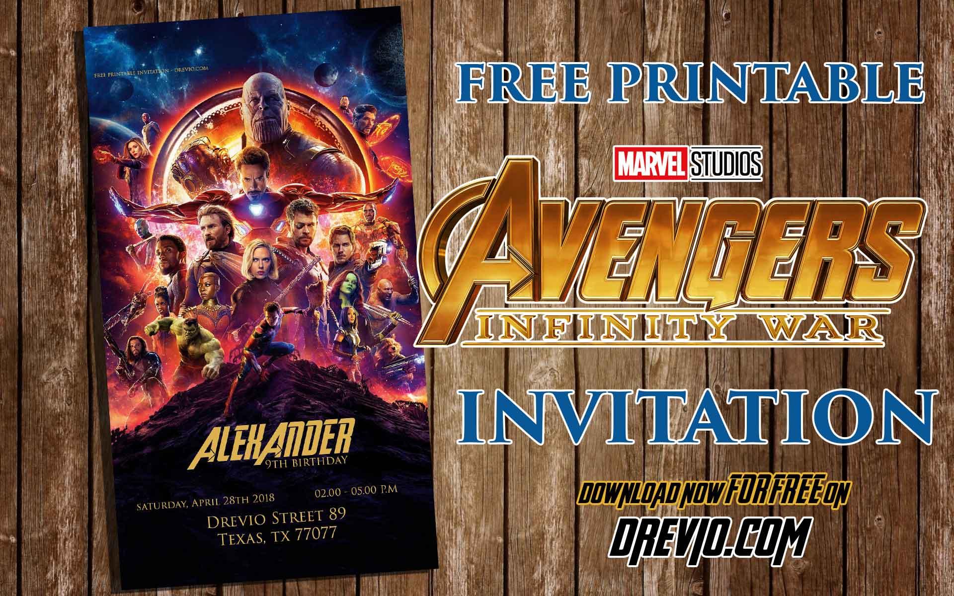 free printable avengers infinity wars