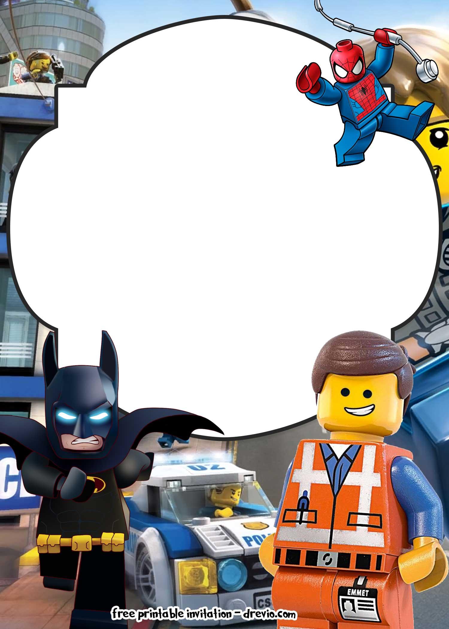 free lego movie invitations for