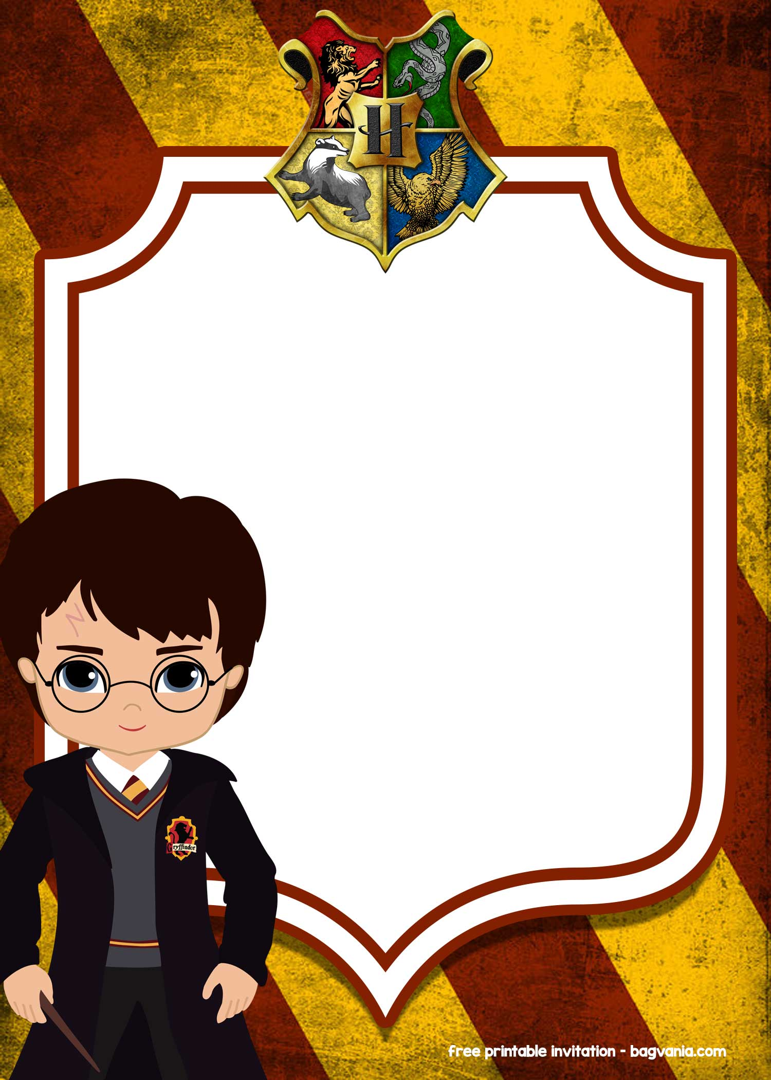 FREE Printable Harry Potter Invitation Templates FREE