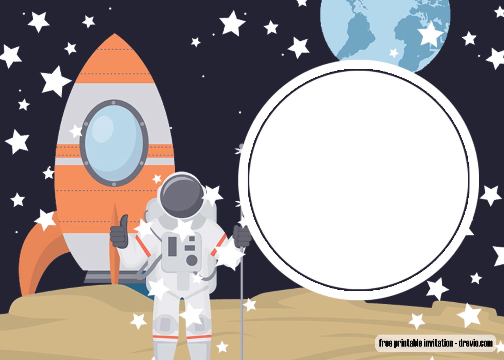 FREE Printable Spaceship Rocket Ship Invitation Template UPDATED FREE Invitation Templates