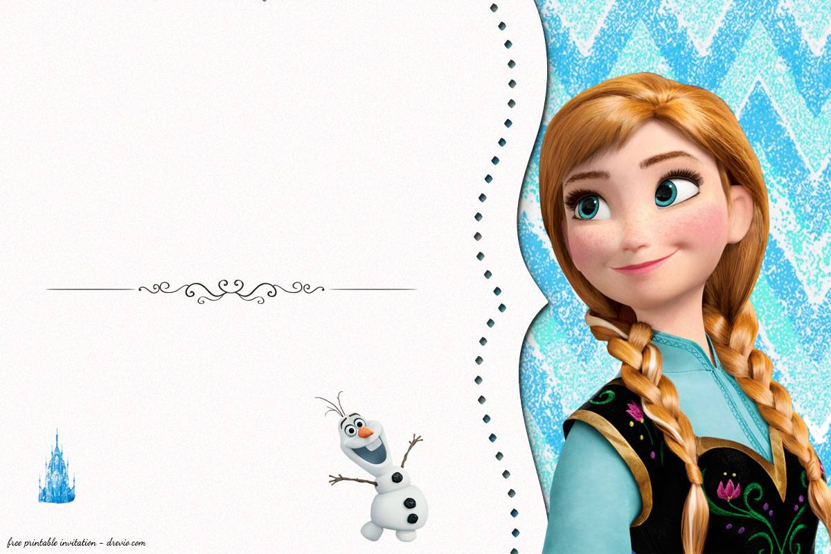 free frozen birthday invitation