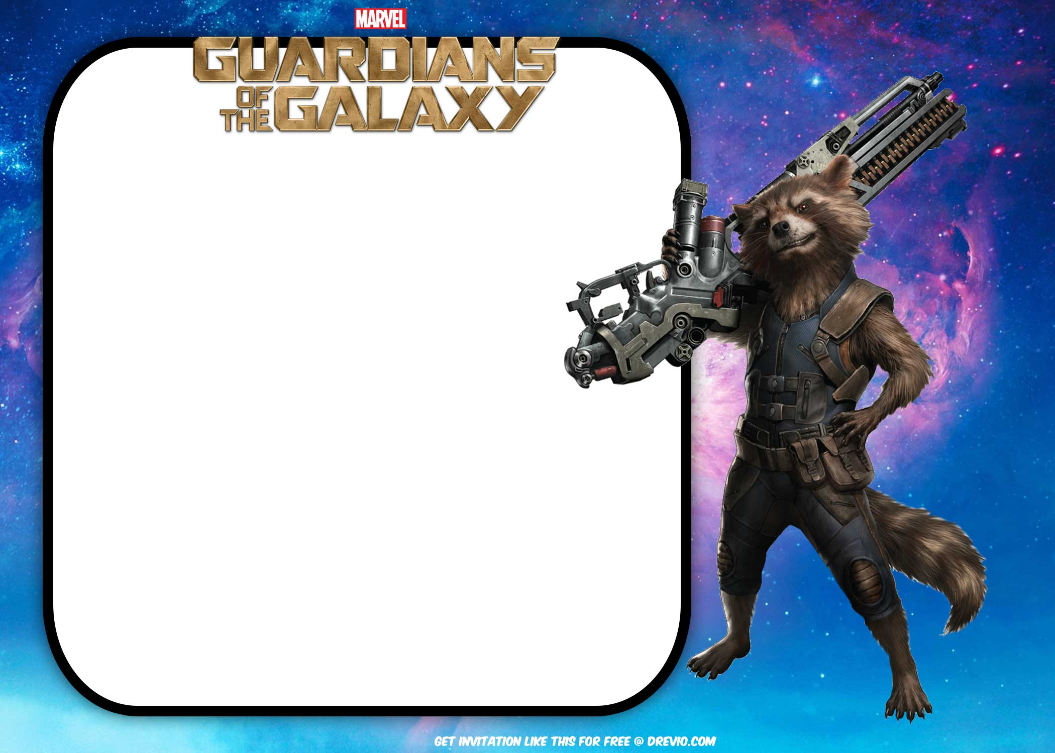 Free Guardians Of The Galaxy Birthday Invitation Templates Free Invitation Templates