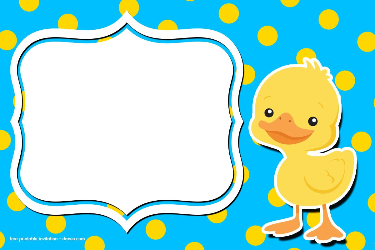 Free Printable Rubber Duck Birthday Invitation Template Free Invitation Templates