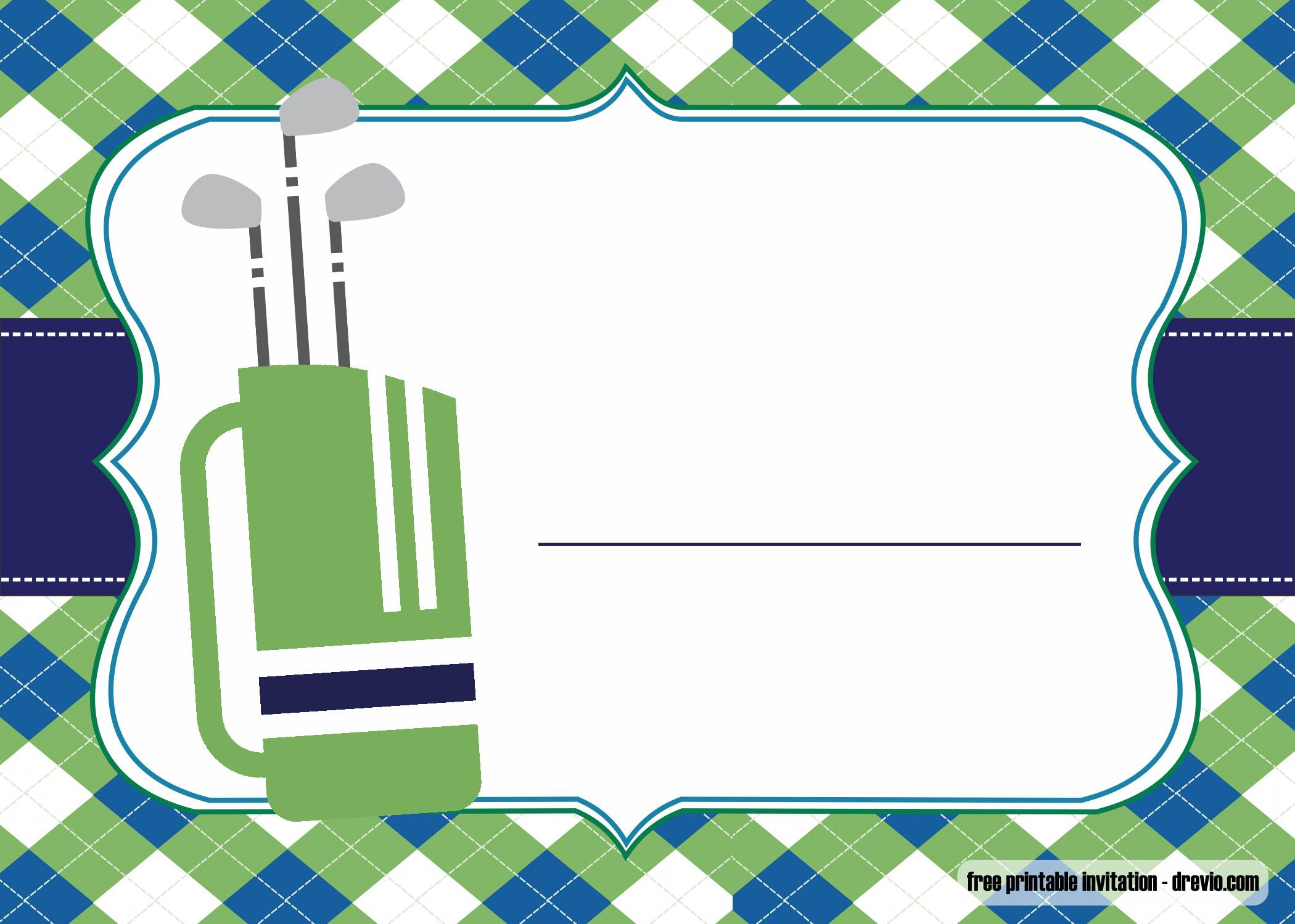 Free Printable Golf Invitations Template