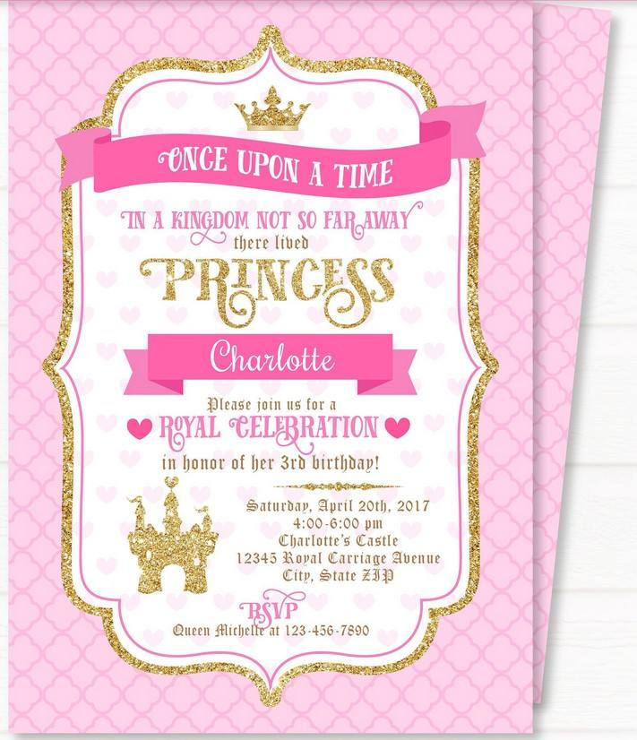 free printable royal princess party