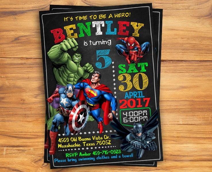 free printable chalkboard superhero