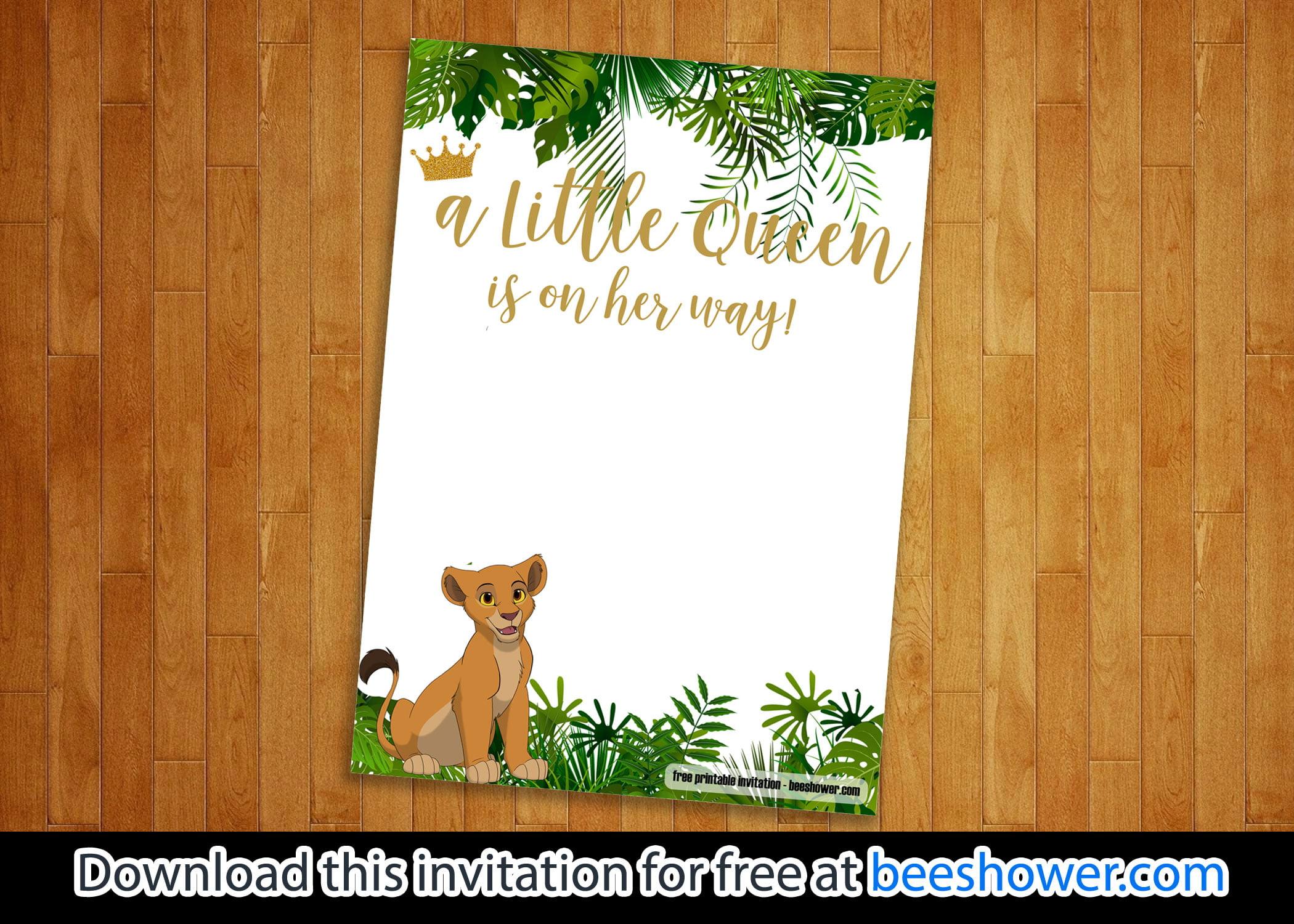 free printable lion king baby shower