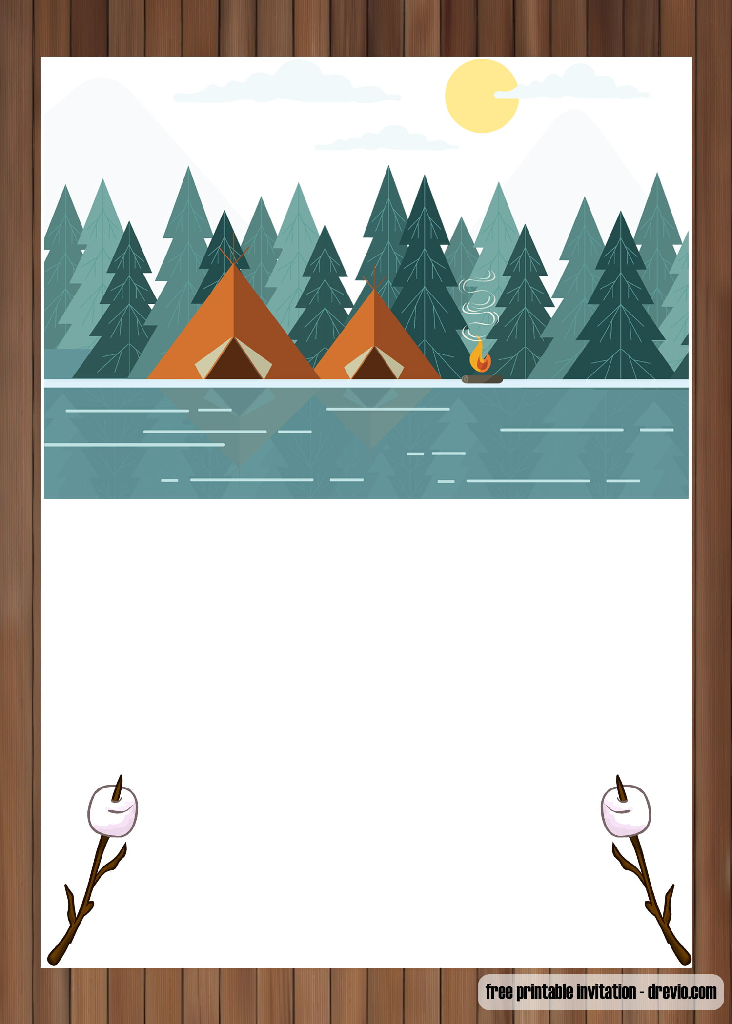 camping invitation template
