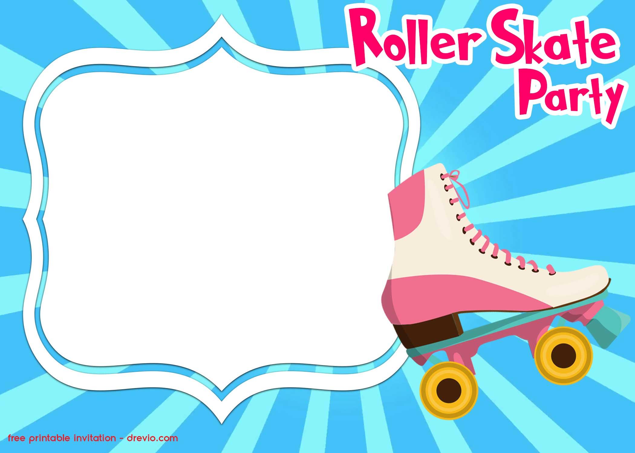 free printable roller skating