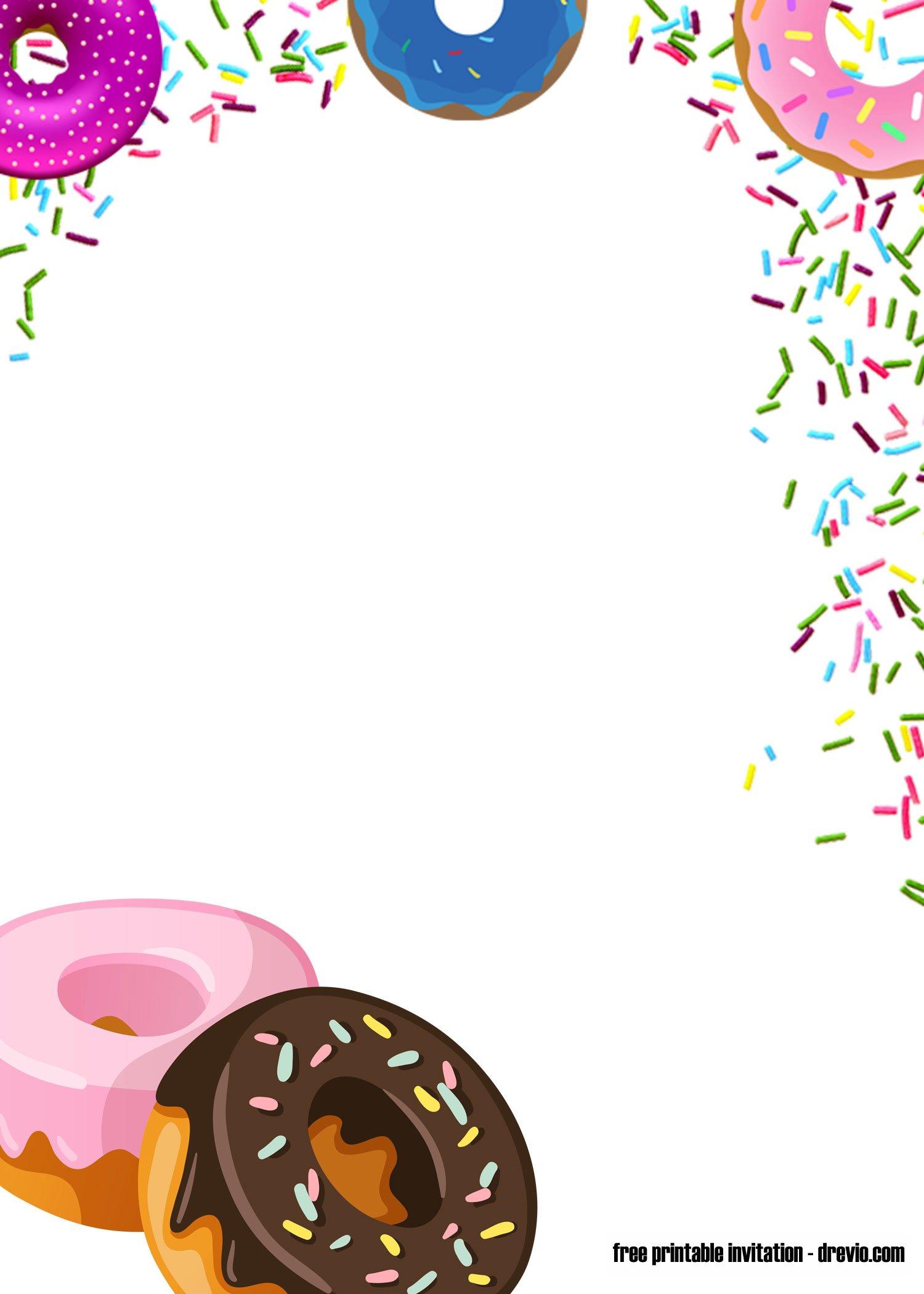 Free Printable Donuts And Pajamas Invitation Templates