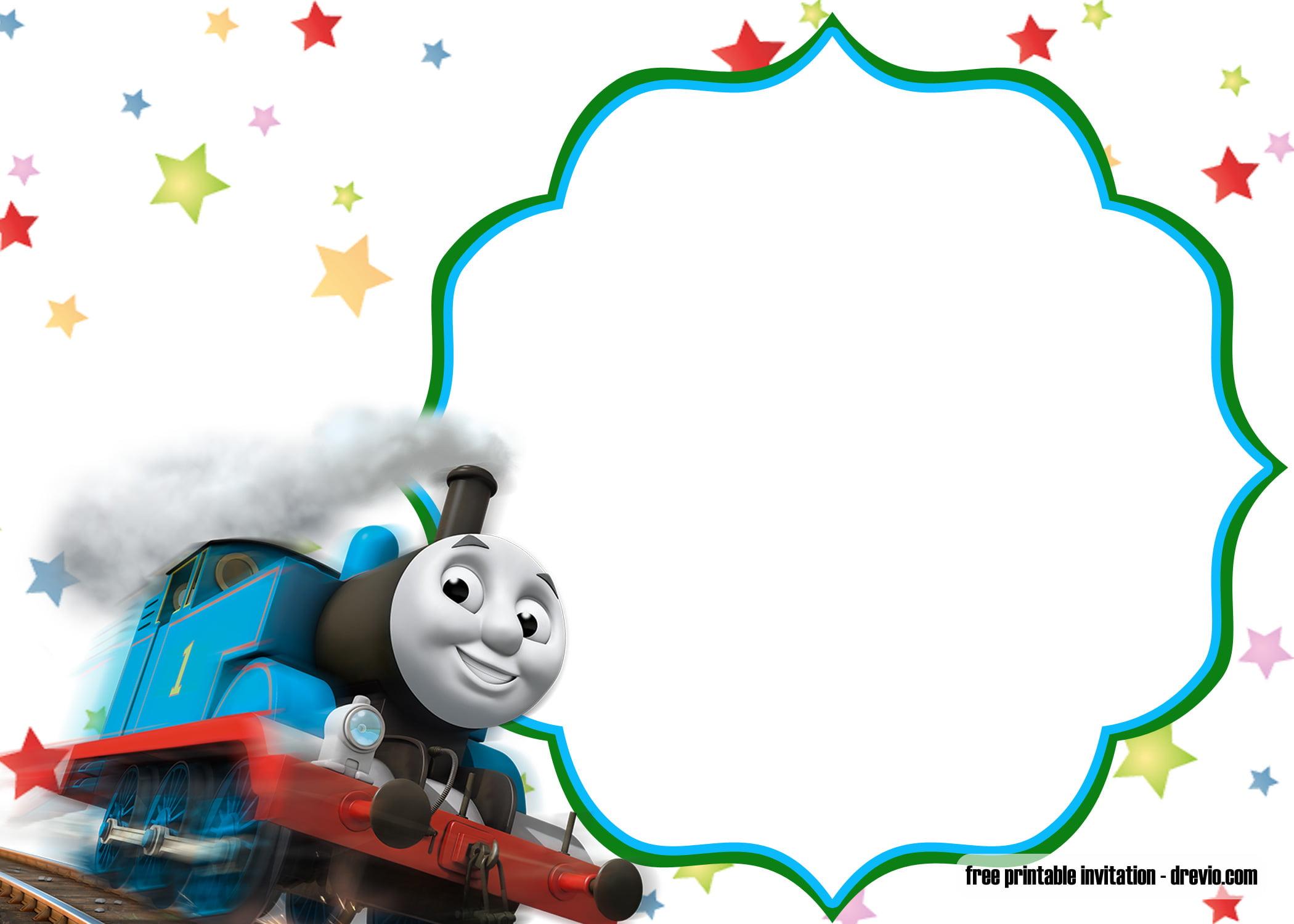 Free Printable Thomas The Train Birthday Invitation