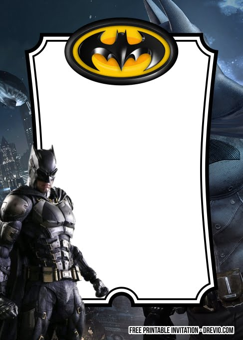 8 free batman birthday invitation