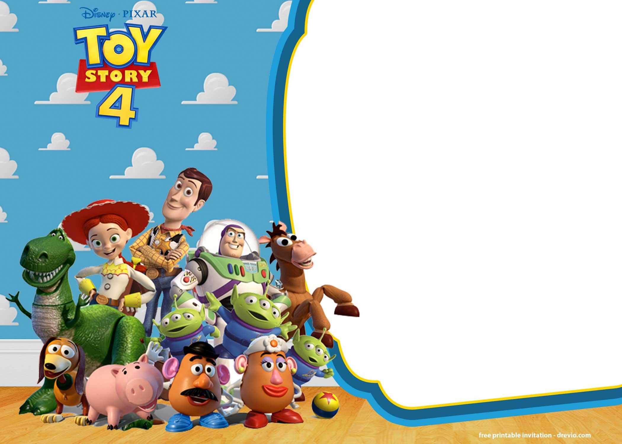 FREE Printable Toy Story 4 Invitation Templates FREE Invitation Templates Drevio