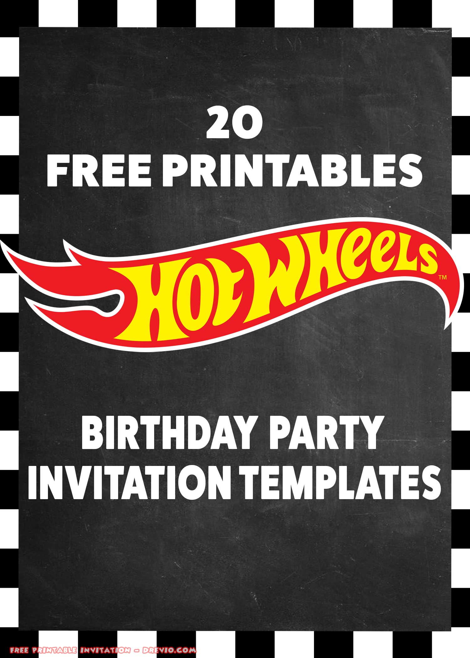 20 Hot Wheels Party Invite Free Printables Download Hundreds Free Printable Birthday Invitation Templates