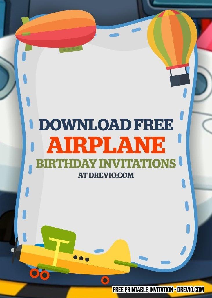 free printable airplane birthday