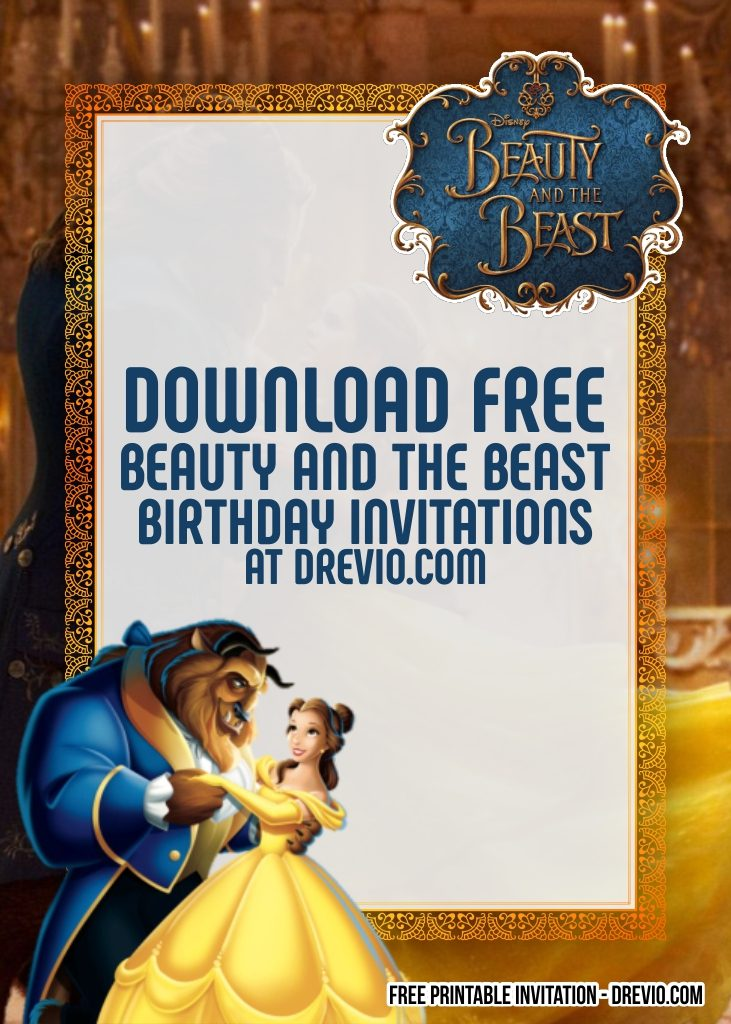 Free Printable Beauty And The Beast Invitation Templates Download Hundreds Free Printable Birthday Invitation Templates