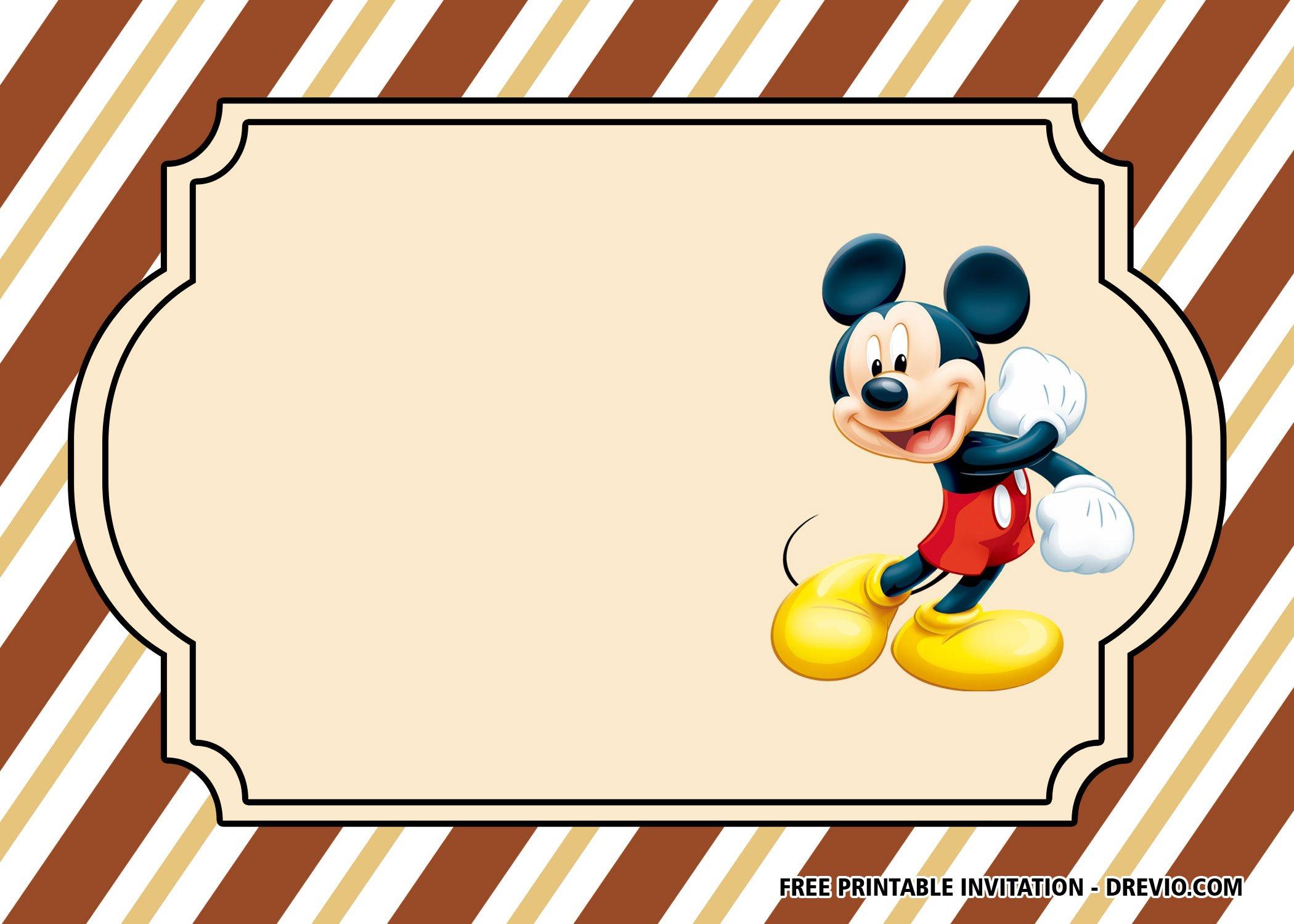 Free Classic Mickey Mouse Invitation Templates