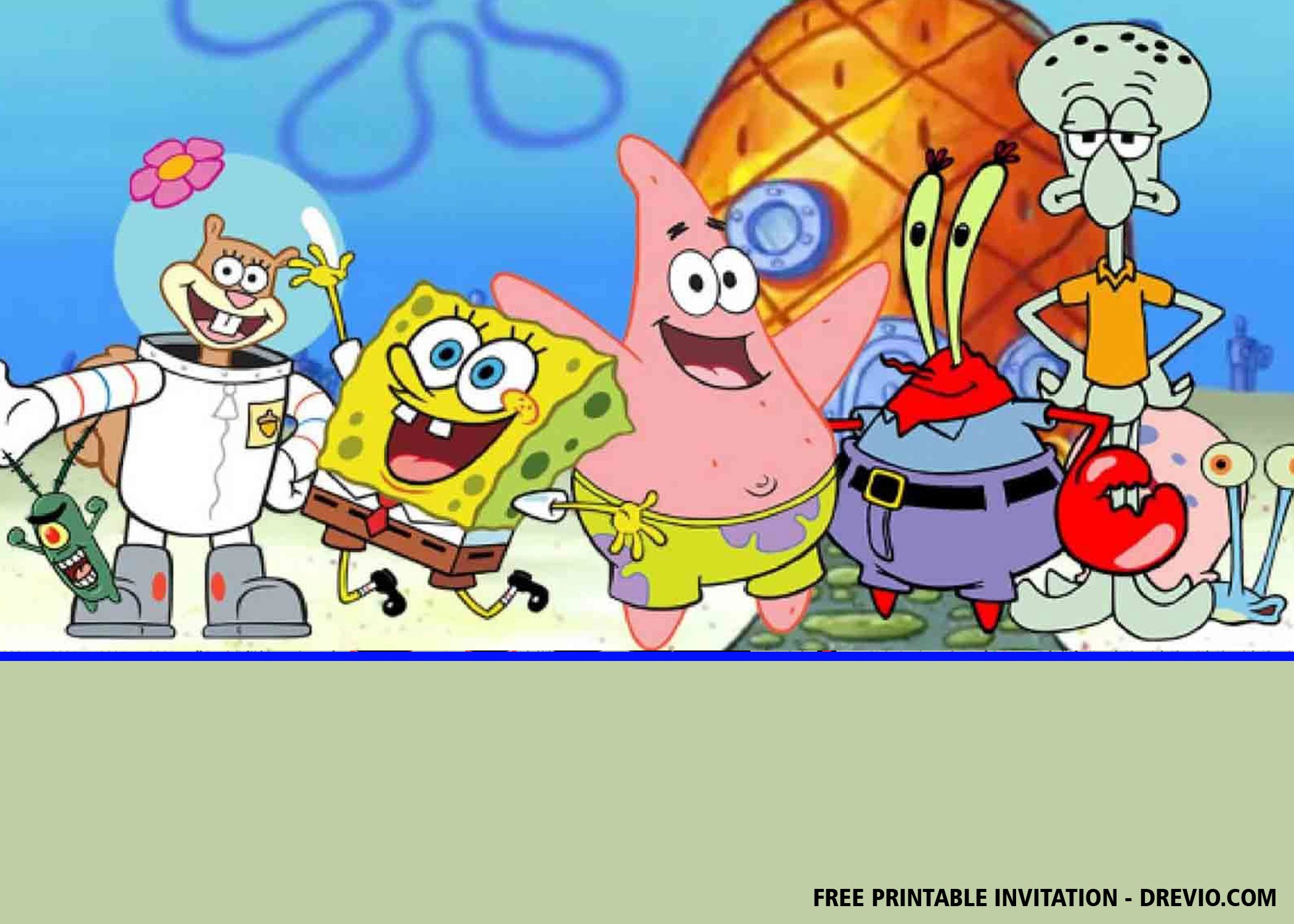 Free Spongebob Squarepants Invitation Templates