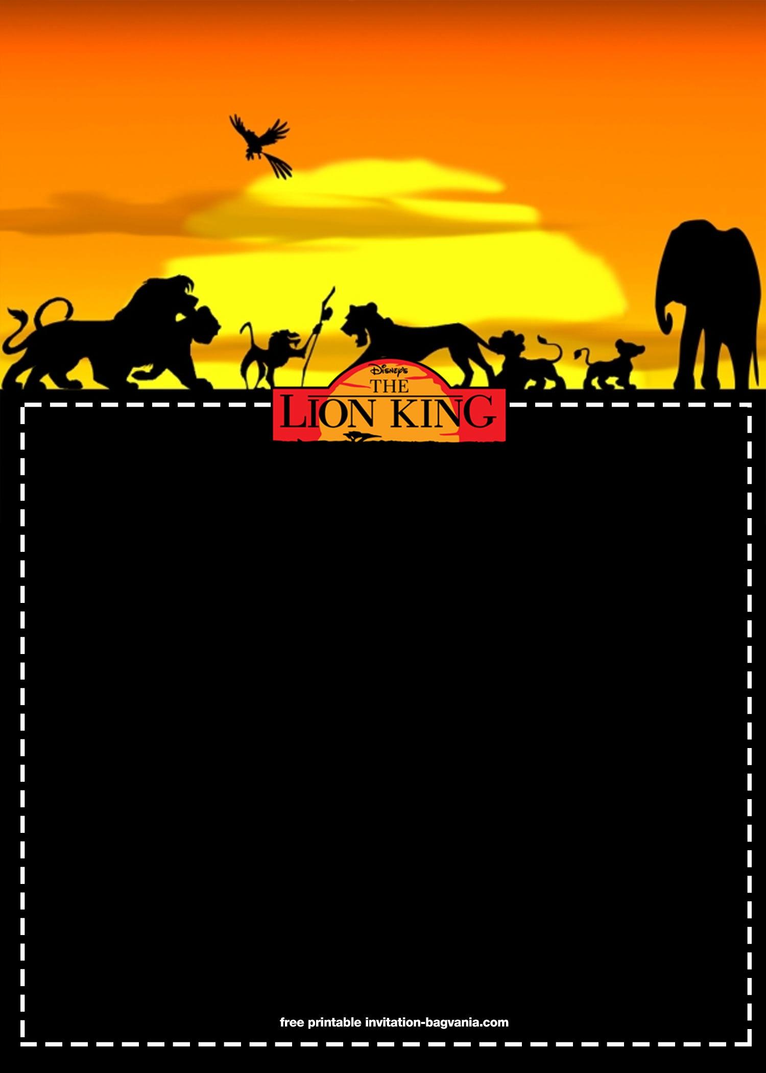 8 Free Printable Lion King Invitation Templates