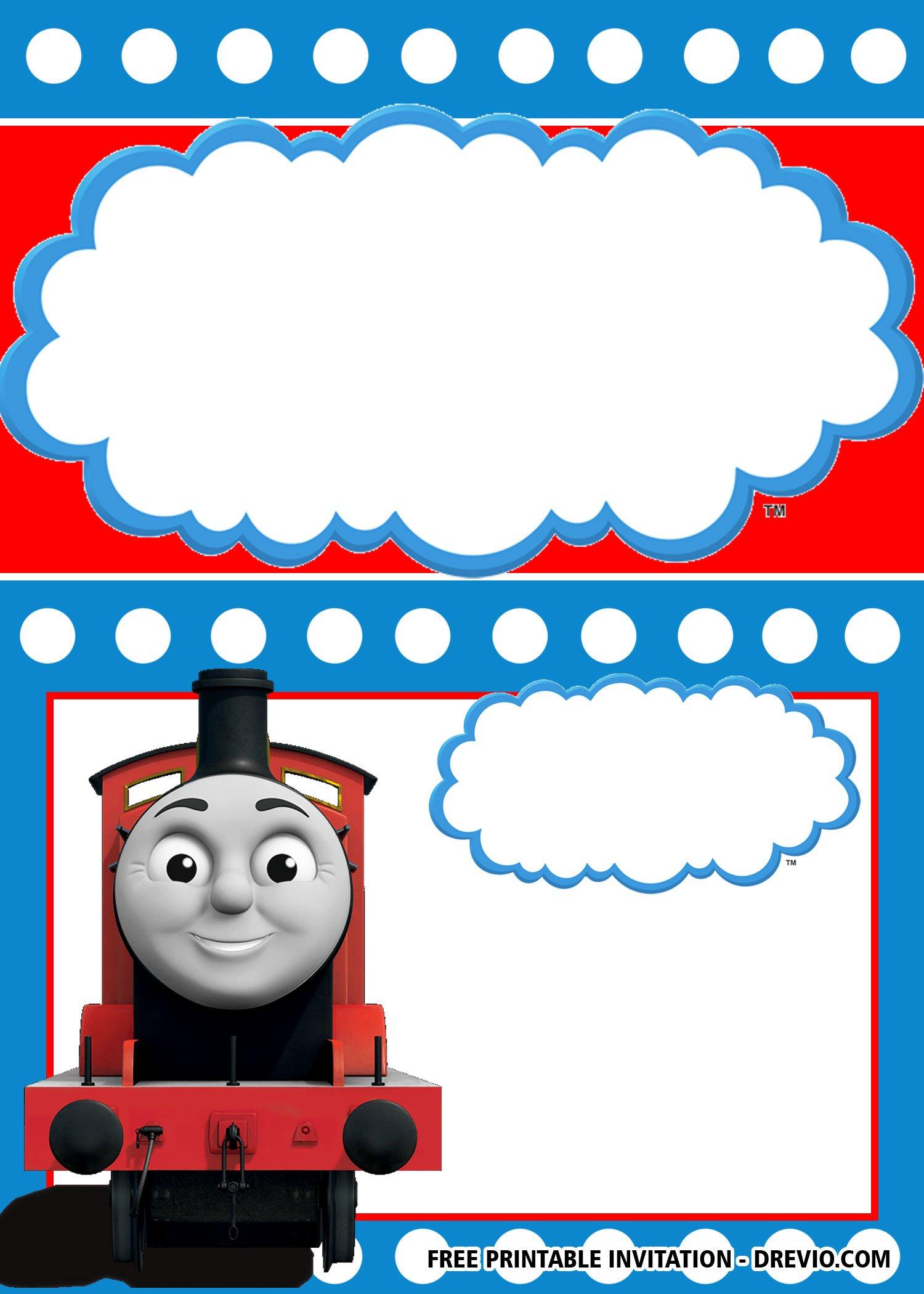 Free Printable Thomas The Train Invitation Templates