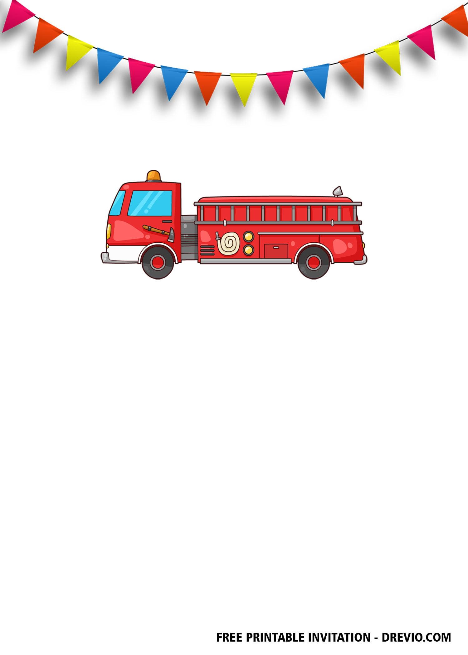 free fireman birthday invitation