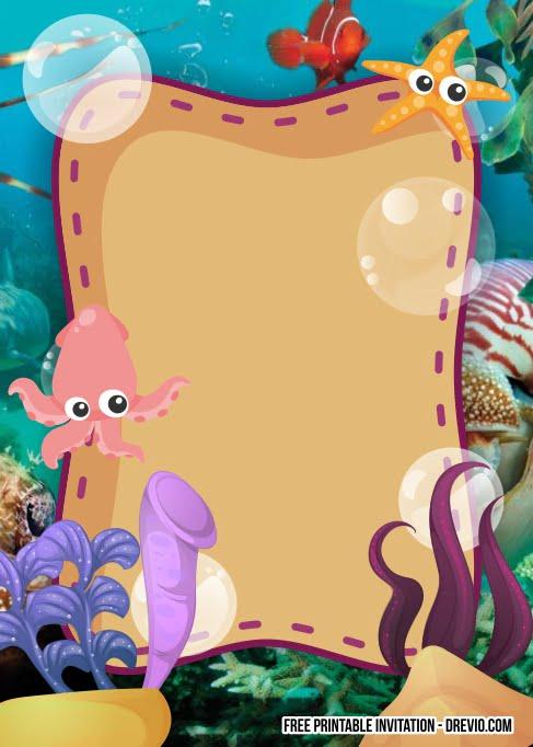 free printable under the sea birthday