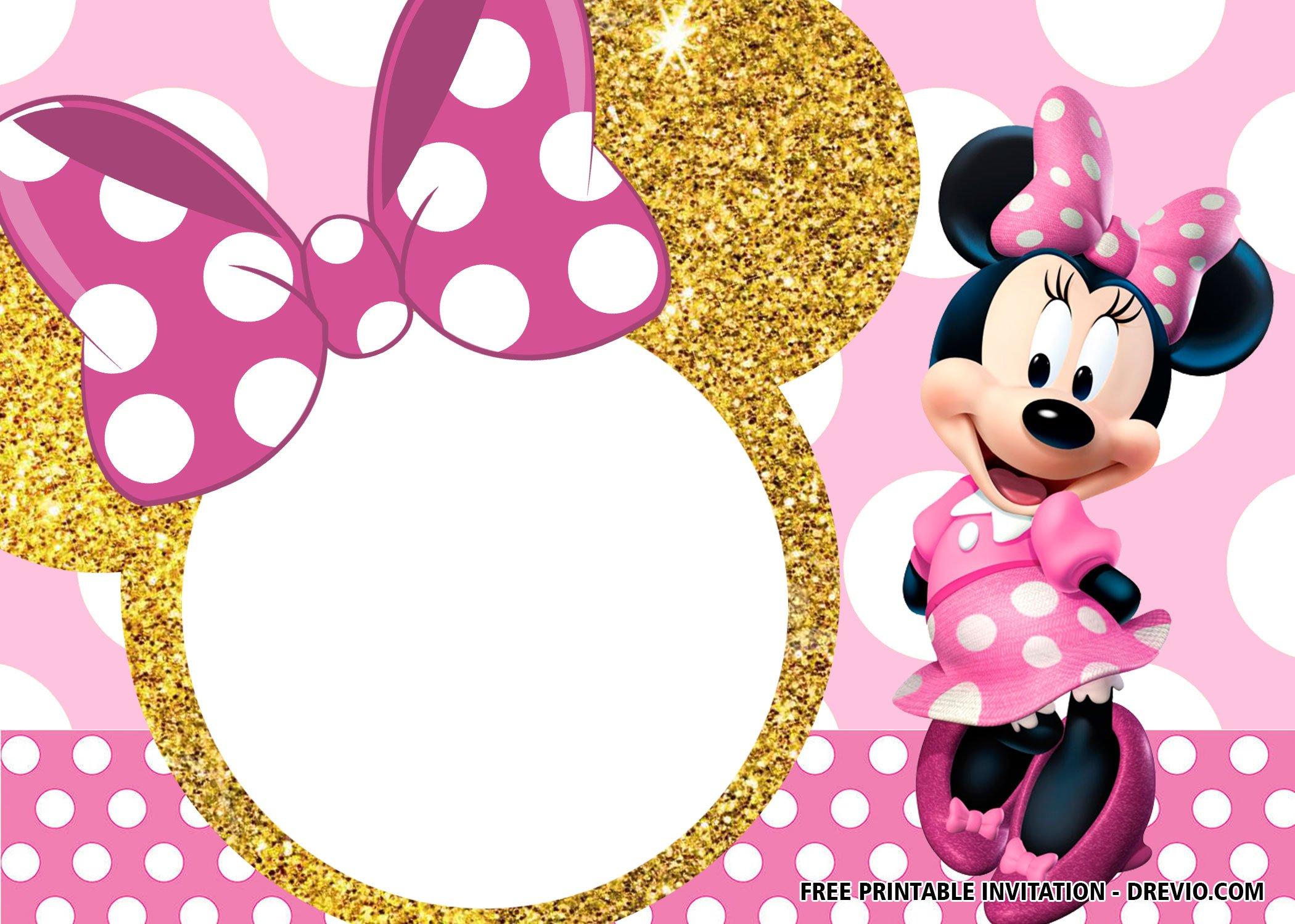 30 Free Printable Minnie Mouse Birthday Invitation Templates Download Hundreds Free Printable Birthday Invitation Templates