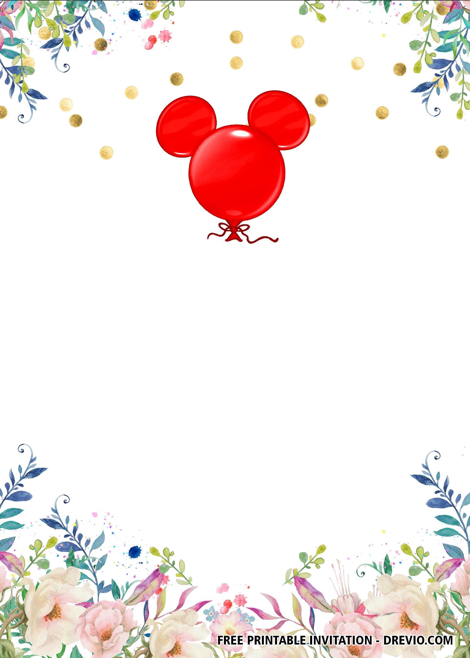 free printable minnie mouse birthday