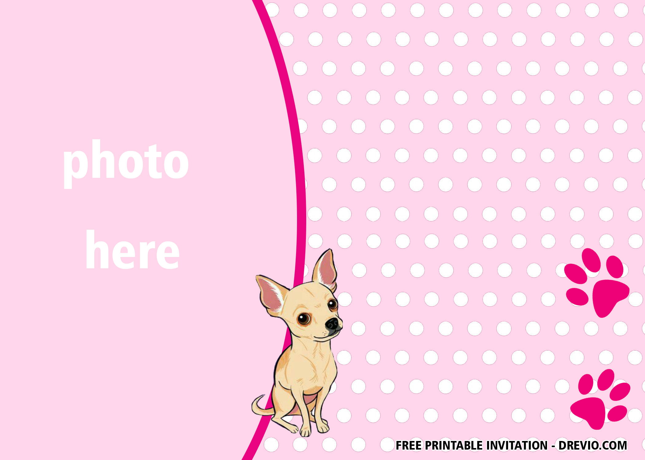 free printable pink puppy dog